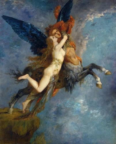 peinture, Moreau, La chimère, symbolisme, mythologie, latin