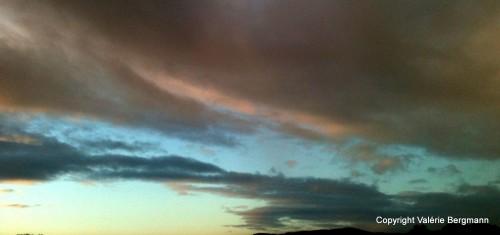 photo, ciel, mont, nuages, couleurs, rivière