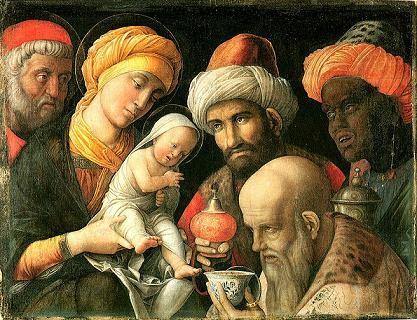 art, peinture, Mantegna, épiphanie, rois, mages