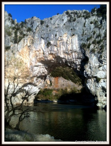 photos, Ardèche,tuoms, ciel, rivière, ruoms,, pont, Arc, paysage, nature, lumière