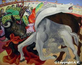 Picasso, torero, corrida, peinture