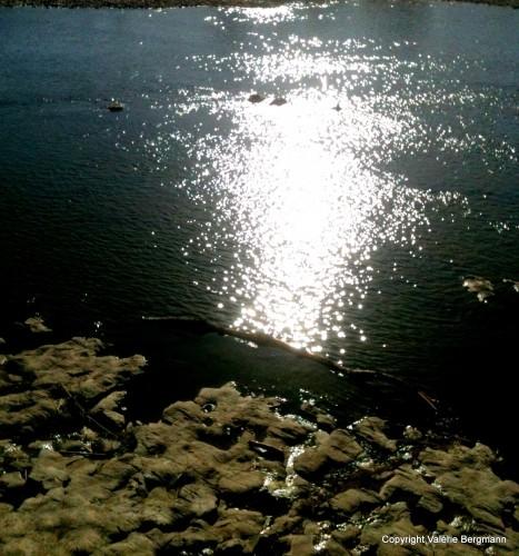 photo, ombres, paysage, nature, reflet, rivière, lumières