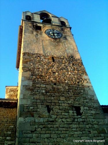 église, Saou, village, Drôme, clocher