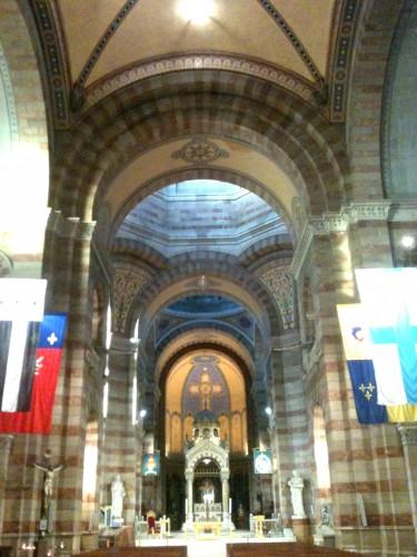 cathédrale, monument, marseille, vieille, charité, art, architecture