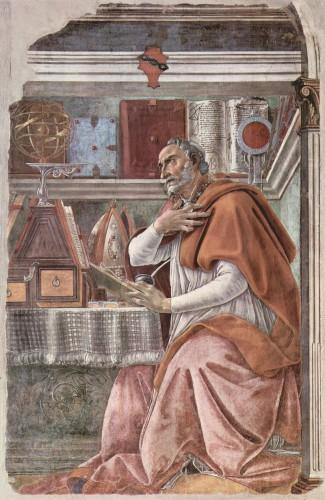 Saint Augustin, Hippone, Botticelli, peinture, renaissance, art