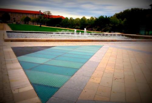 photographie, architecture, fontaine, luminosité, prise de vue, Valence, perspective, jardin, parc, Jouvet