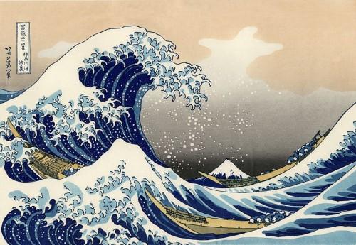 art, peinture, exposition, japon, Hokusai, vague