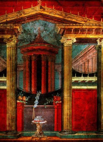 art, peinture, boscoreale, murale, romane, fresque, musée, couleurs, metropolitan museum of art, new-york