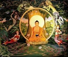 buddha, vème siècle, peinture,sérénité