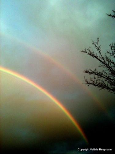 photo, arc-en-ciel, ciel, couleurs, art, nature